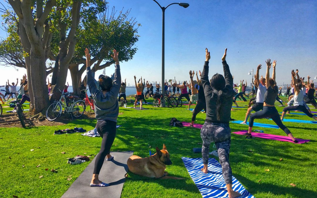 Yoga on the Bluff, Long Beach, CA