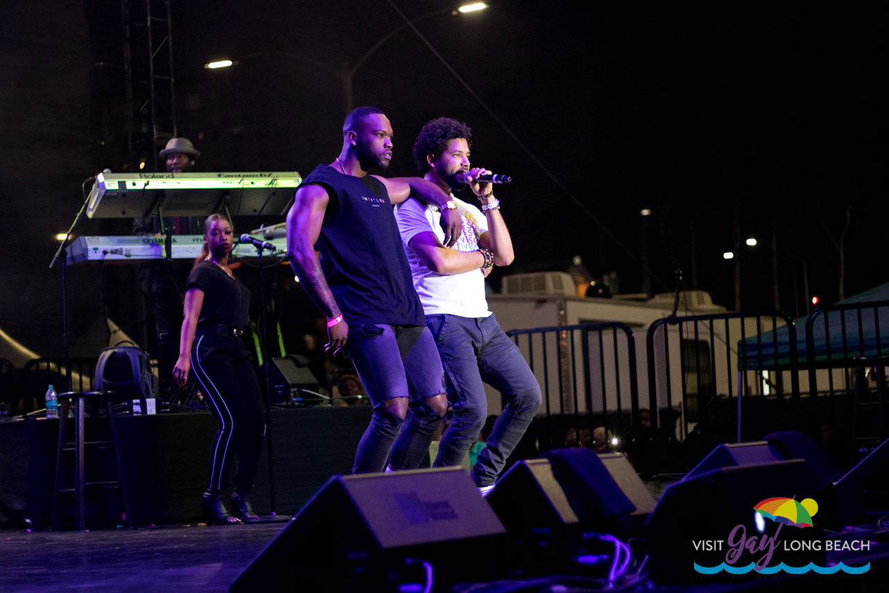 Jussie Smollett performing a