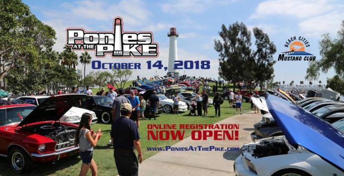 Ponies At The Pike Mustang Ford Car Show Visit Gay Long Beach - Long beach car show 2018