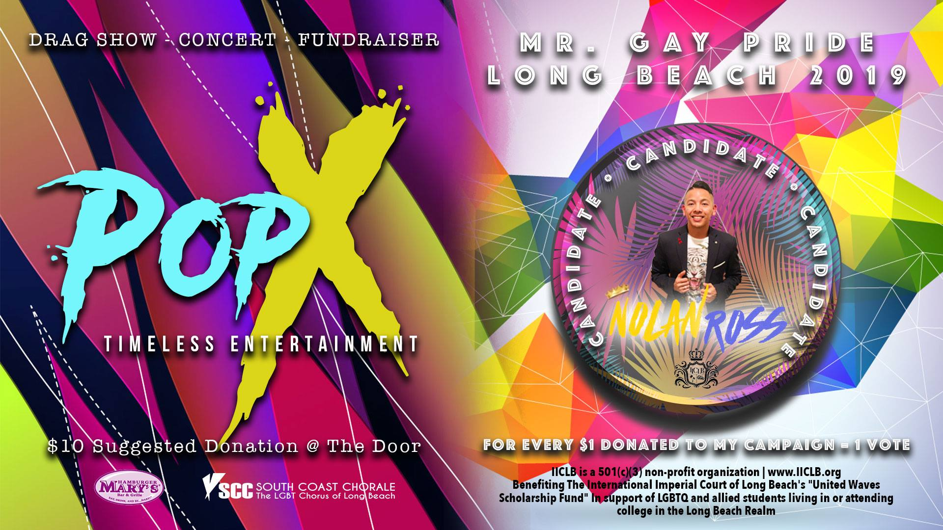 PopX | Nolan Ross for Mr. Gay Pride Long Beach 2019