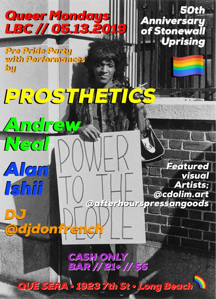 Pre-PRIDE PARTY w The Prostethics•Andrew Neil•Alan Ishii & more!