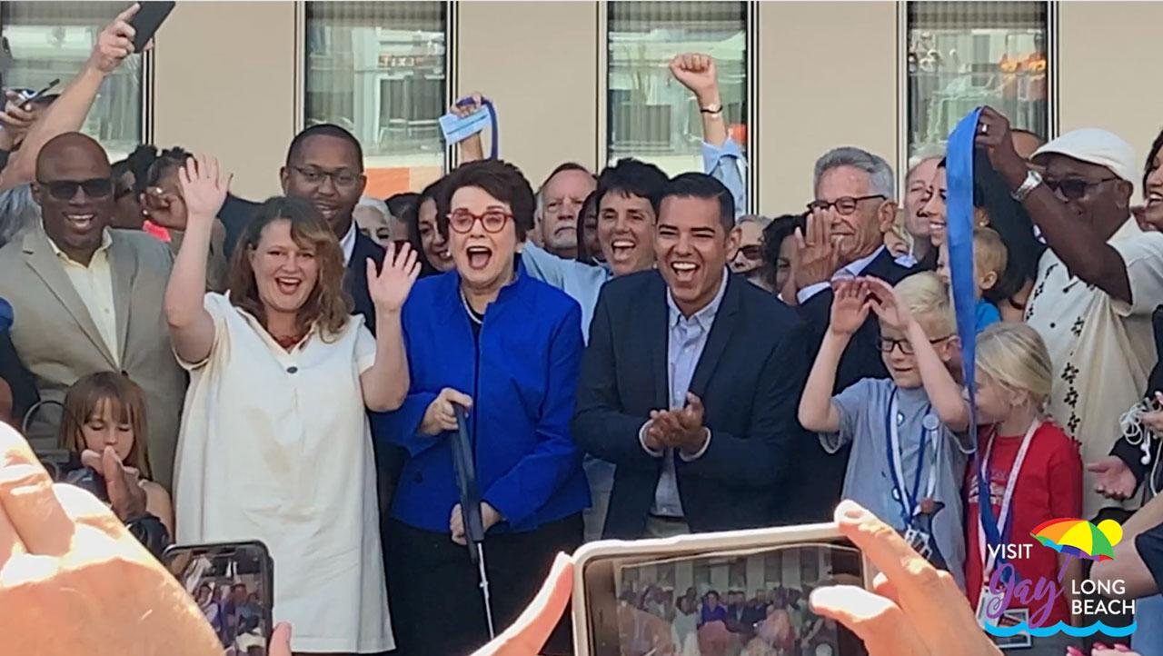 Billie Jean King Library Opening Visit Gay Long Beach