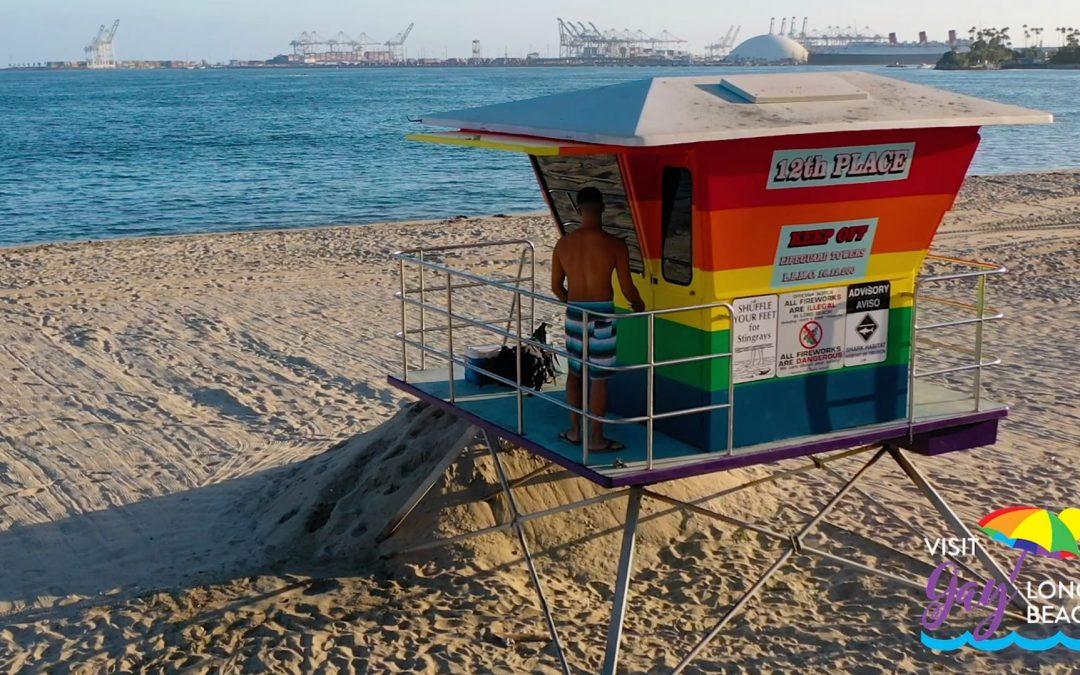 Long Beach Rainbow Lifeguard Tower