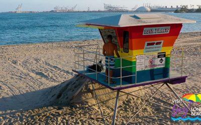 LBC's Rainbow  Lifeguard Tower
